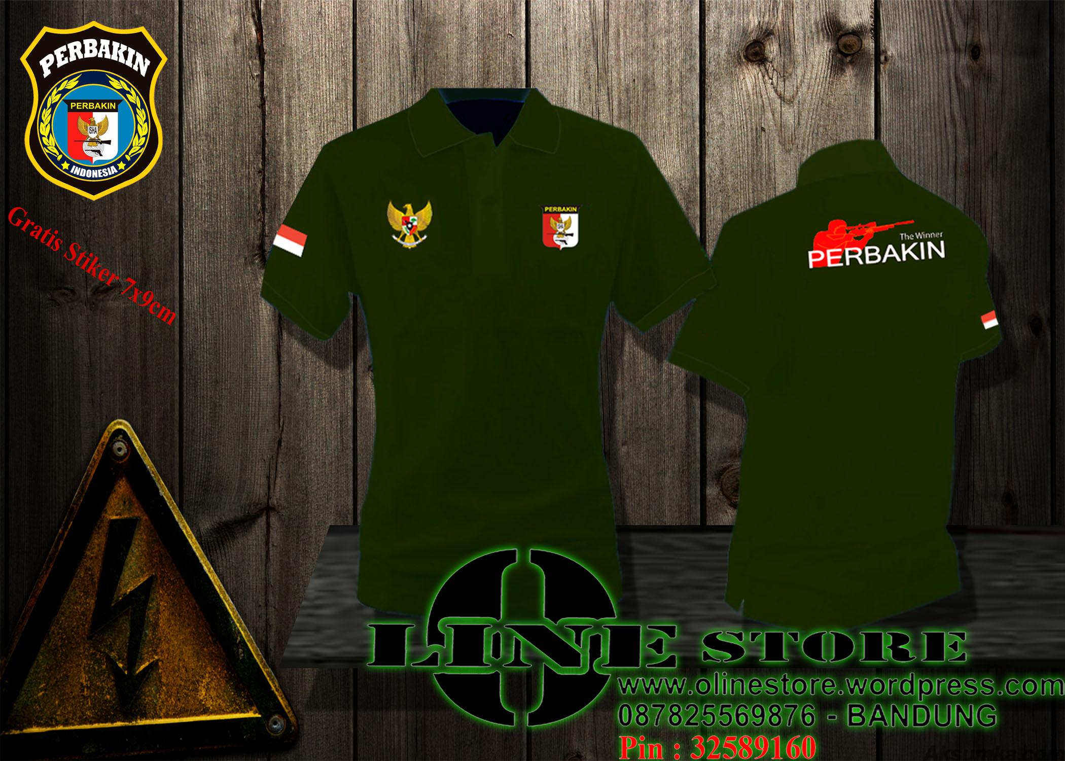 Hijau Army O Line Store Productions Kaos Polo Perbakin Shirt Jual Baju Kemeja Jaket Poloshirt Katalog Ready Stock