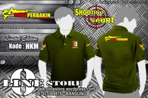 "Polo Shirt Perbakin ""HKM"" {Ready Stock} Kode : ""HKM"" Bahan : Lacoste Cotton Warna :Hijau Army Full Bordir Size M : 46 x 68cm - L : 49 x 72cm - XL : 51 x 75 - XXL : 56 x 76cm  Pemesanan : Tlp/SMS 0878 2556 9876 - BB Pin Baru : 23AEE618 atau pin lama : 32589160 Kami pun melayani pembuatan baju,kaos,polo shirt,jaket dan sebagainya dengan harga special.... kualitas kami nomor satukan Pembayaran Via BCA/BNI Barang Dikirim Via JNE atau Sesuai Permintaan Customer"